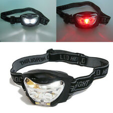 Headlamp Handsfree 3 LED Camping 3 Modes White + Red Head Torch Headlight