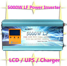 "20000W/5000W LF Pure Sine Wave Power Inverter 48V DC/230V AC 3.5""LCD/UPS/Charger"