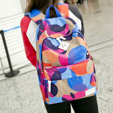New Colorful Women Canvas Backpack Waterproof Travel Satchel Shoulder School Bag