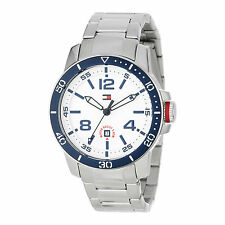 Tommy Hilfiger 1790846 Stainless Steel with Blue Bezel Sport Watch MSRP $135
