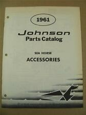 1961 OMC JOHNSON SEA HORSE ACCESSORIES OUTBOARD MOTOR ENGINE PART CATALOG 378465