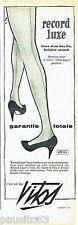PUBLICITE ADVERTISING 016  1957  Vitos   bas de luxe fin