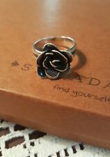 Silpada .925 Sterling Silver Rose Ring R2207 SIZE 8