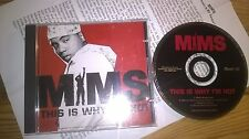 CD Hiphop Mims - This Is Why I'm Hot (4 Song) Promo CAPITOL jc Presskit