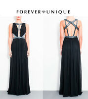 Forever Unique Issy Maxi Dress Cut Outs Embellishment UK 8 10 12 14 new RRP £300