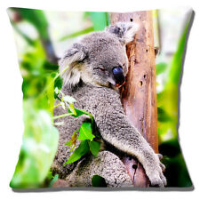 "CUTE SLEEPY ADULT KOALA BEAR IN TREE PHOTO PRINT DESIGN 16"" Pillow Cushion Cover"