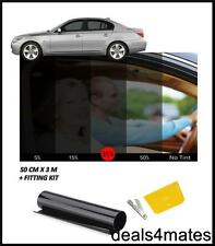 WINDOW TINT FILM TINTING BLACK KIT  SMOKE 35% 50x300CM