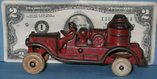 """AUTHENTIC & OLD CAST IRON TOY FIRE TRUCK PUMPER 4 1/2"""" * NOW ON SALE * CI 274"""