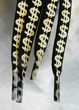 Dollar Design Long Shoelaces / Boot Laces / Trainer Laces - BNWT