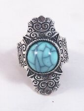 Very Nice Brand New Vintage Style Turquiose Colored Stretch Ring #R1128