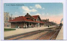 B & O RR STATION,DEPOT SHOWING INCOMING TRAIN-BRADDOCK,PA