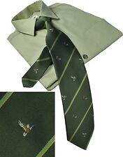 Jagdkrawatte Schlips Krawatte mit Jäger Hund + Ente
