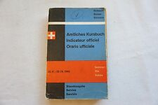 1963 Swiss Railway Timetable with Maps Switzerland Suisse Zurich