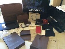 LOT Of 20Authentic Louis Vuitton CHANEL Shopping Bags Dust Bags Ribbons Burberry
