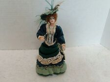 """Victorian Style Miniature 7"""" Doll, polymer?"""