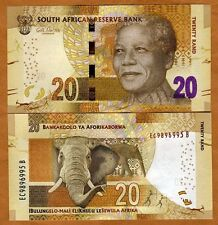 South Africa, 20 rand, ND (2012) (2014 Omron) P-134-New, UNC > Mandela, Elephant