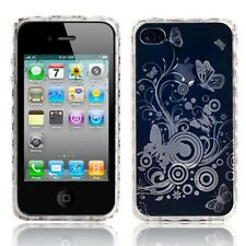 Nuevo Claro Gel Butterfly Funda Para Apple Iphone 4 4s-Protector De Pantalla Gratis