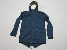 GLOBE MENS NAVY BLUE GOODSTOCK FISHTAIL HOODED PARKA JACKET COAT SIZE SMALL NEW