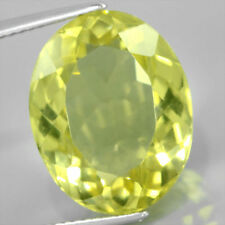 Grandi 14x10mm oval-facet Naturale Africana Limone Citrino Gemstone £ 1 NR!