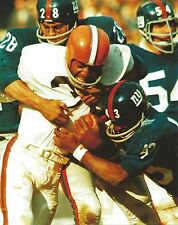 JIM BROWN 8X10 PHOTO CLEVELAND RAIDERS PICTURE NFL FOOTBALL VS GIANTS