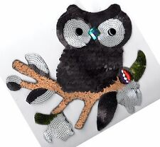 Sequin Patch: Jeweled Owl