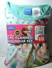 Newest New Girls Disney FROZEN Fever 2 pc Flannel Pajamas Sleepwear Set 6/6x