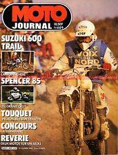 MOTO JOURNAL  689 SUZUKI 600 DR Alain CHEVALIER SPENCER ; 11ème TOUQUET 1985