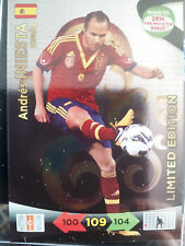 ADRENALYN 2014 ROAD TO BRAZIL ANDRES INIESTA LIMITED EDITION