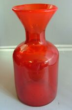 ERIK HOGLUND  RED BUBBLE GLASS VASE