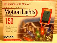 Christmas 150 Multi-Color Motion String Lights~16 Functions with Memory ~ NIB