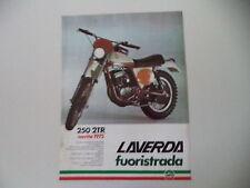 advertising Pubblicità 1975 MOTO LAVERDA 250 2TR 2T R