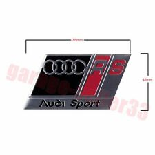 Audi Sport RS Logo Aluminum Emblem Badge 86mmx45mm