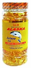 Alaska Salmon Fish Oil  Super Omega-3  (200 soft gels) 1000mg