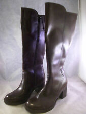 DANSKO WOMEN'S ASHBY ZIPPER TALL BOOTS BROWN CALF LEATHER 37 7 MEDIUM $270