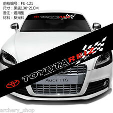 Reflective Front Windshield Banner Decal Car Sticker for Toyota Auto Exterio