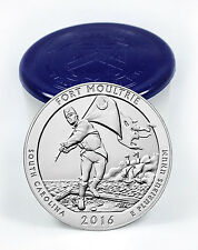 2016 25c 5 Oz Silver America the Beautiful ATB Fort Moultrie Roll of 10 SKU43810