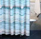 MAUI BLUE SHOWER CURTAIN : SEA SHELL STARFISH CORAL BEACH HOUSE