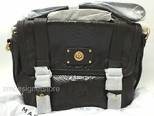 $498 Marc Jacobs Turnlock Python Embossed Work Tote Crossbody Bag Faded Aluminum