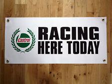 Castrol Carreras There Hoy Impermeable Exterior Garaje Grande Rally Letrero