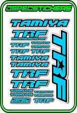 TRF TAMIYA RC STICKER REMOTE CONTROL STICKERS 418 RACING MODEL A5 R/C L/BLUE BLA
