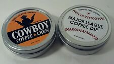 2 Cans Cowboy & MLB Chewing or Dipping Tobacco FREE Rodeo Baseball Snus Snuff