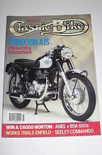 Classic Bike 1991  March,Seeley Norton Commando/Ariel Huntmaster/Triumph 250-500