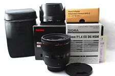 "SIGMA 85mm F1.4 EX DG HSM for Nikon AF ""Excellent++++"" from JAPAN"
