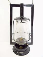 Antique Old 1893 Dietz No 0 Victor Black Restored Tubular Barn Lantern Lamp Used