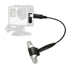 3.5mm Stereo external microphone + conversion line for GoPro Hero 3 3+ 4