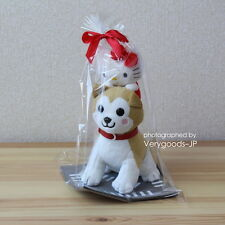 Hello Kitty x Hachi Dog Plush Doll Figure Sanrio Japan Hachiko
