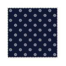 White Star Daisies on Navy Blue, Reproduction Fabric, Circa 1825 (By 1/2 yd)