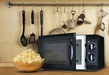 Compact Microwave Oven Small 0.6 Cu Ft w 600W Black Apt Dorm Home Office Seniors
