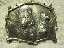 1995 GREAT AMERICAN PRODUCTS (GAP), MADE IN USA, WOLVES BELT BUCKLE