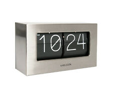 Karlsson Flip Clock Boxed in Brushed Steel